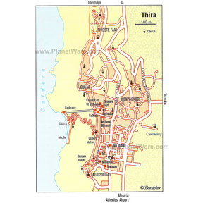 Map - Thira (Fira)