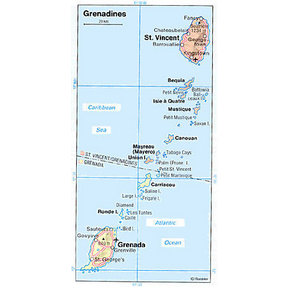 Map - Grenadines
