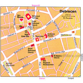 Map - Debrecen