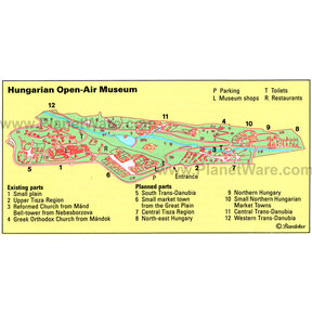 Map - Hungarian Open-Air Museum
