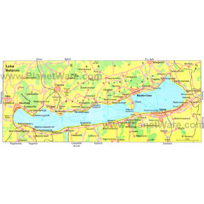 Map - Lake Balaton