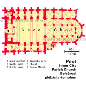 Map - Pest - Inner City Parish Church