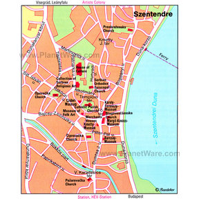 Szentendre Map