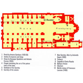 Map - Palermo Cathedral