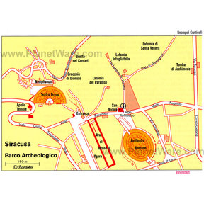 Map - Syracuse - Parco Archeologico