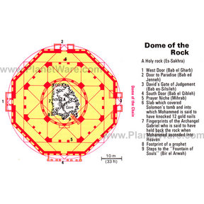Map - Jerusalem - Dome of the Rock