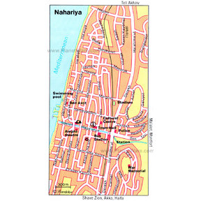 Map - Nahariya