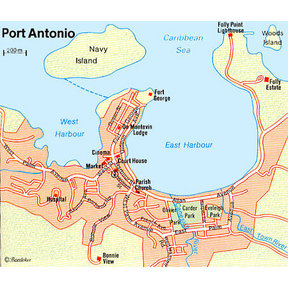 Map - Port Antonio