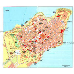 Map - Valletta