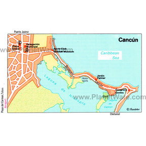 Map - Cancun