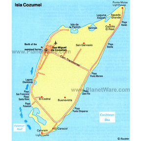 Map - Isla Cozumel