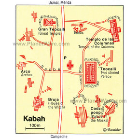 Map - Kabah