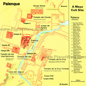 Map - Palenque (Maya Cult Site)