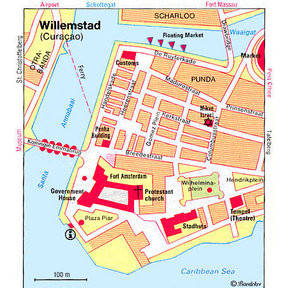 Map - Curacao - Willemstad