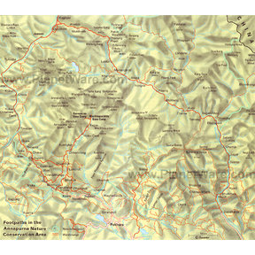 Map - Annapurna Conservation Area, West Nepal