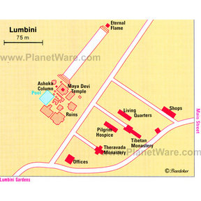 Map - Lumbini, West Nepal