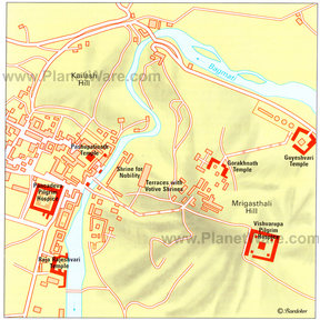Map - Pashupatinath, Kathmandu Valley
