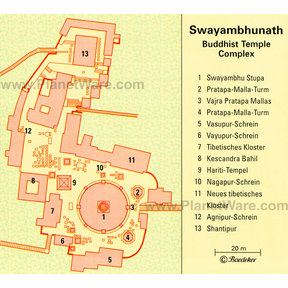 Map - Swayambhunath Temple, Kathmandu Valley