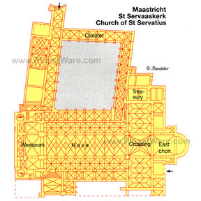 Map - Maastricht Church of St Servatius