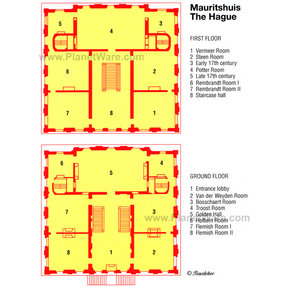 Map - Mauritshuis in The Hague - Ground Floor