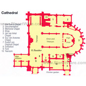 Map - Utrecht Cathedral
