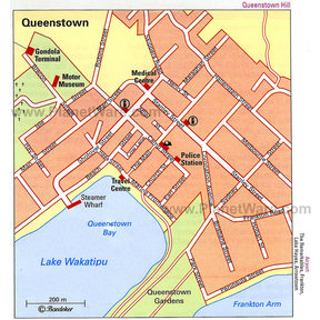 Map - Queenstown