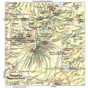 Map - Tongariro National Park