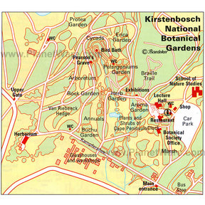 Map - Kirstenbosch National Botanical Gardens