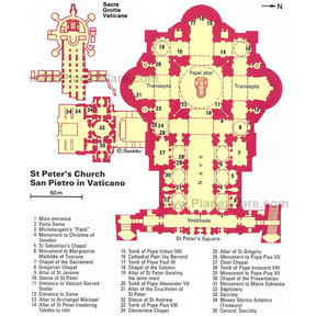 Map - Vatican City - St Peter's Church