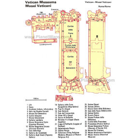 Map - Vatican Museums