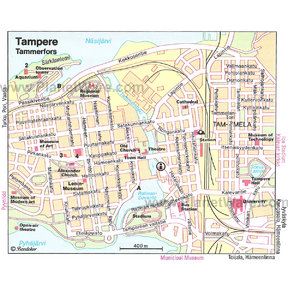 Map - Tampere / Tammerfors