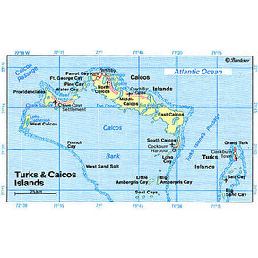 Map - Turks & Caicos Islands