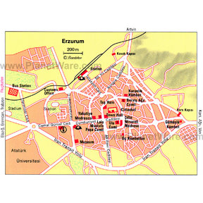Map - Erzurum