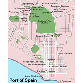 Map - Port of Spain