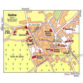 Map - Gafsa