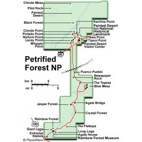Map - Arizona - Petrified Forest National Park