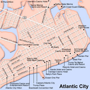 Map - Atlantic City