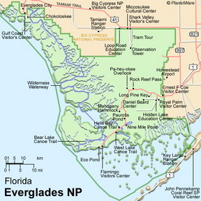 Map - Everglades National Park