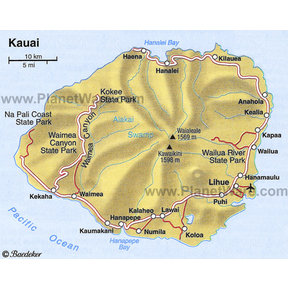 Map - Kauai