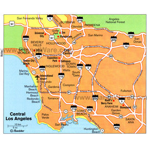 Map - Los Angeles (Central)