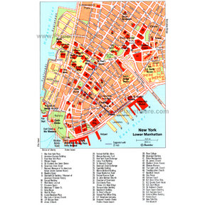 Map - Lower Manhattan Tip