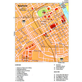 Map - Nashiville