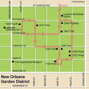 Map - New Orleans Garden District