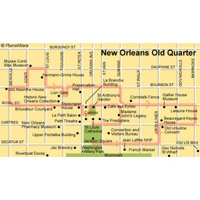 Map - New Orleans Old Quarter