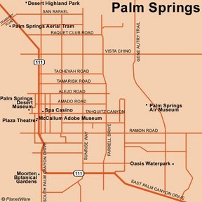 Map - Palm Springs