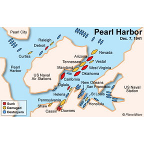 Map - Pearl Harbor