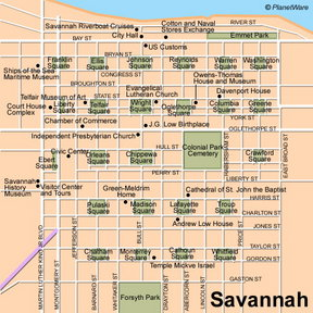 Map - Savannah