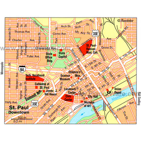 Map - St. Paul