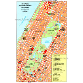 Map - Uptown Manhattan and Central Park