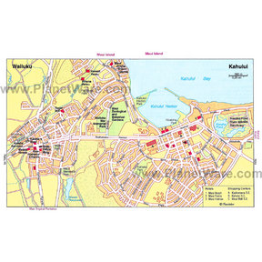 Map - Wailuku and Kahului